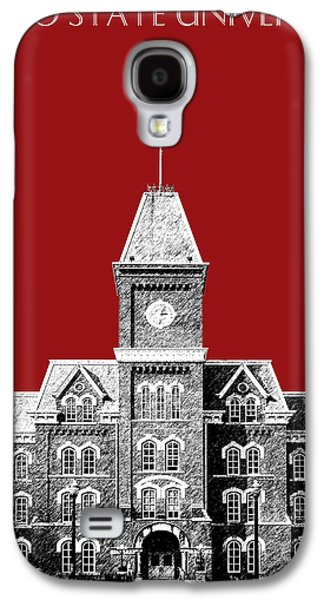 Ink Digital Galaxy S4 Cases - Ohio State University - Dark Red Galaxy S4 Case by DB Artist