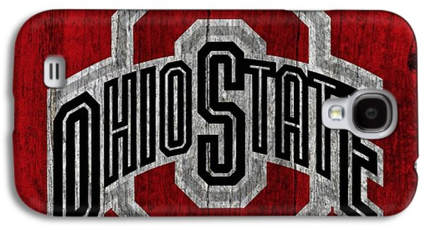 Ohio State University On Worn Wood Galaxy S4 Case by Dan Sproul