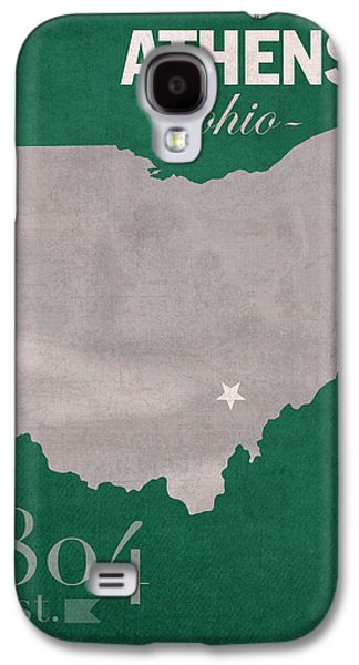 Bobcats Galaxy S4 Cases - Ohio University Athens Bobcats College Town State Map Poster Series No 082 Galaxy S4 Case by Design Turnpike
