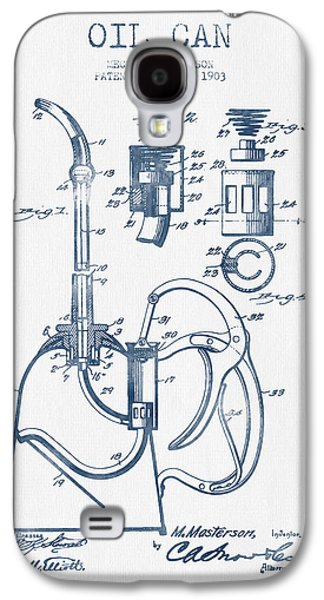 Oil Can Patent From 1903 - Blue Ink Galaxy S4 Case by Aged Pixel