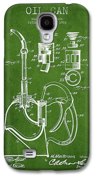 Oil Can Patent From 1903 - Green Galaxy S4 Case by Aged Pixel