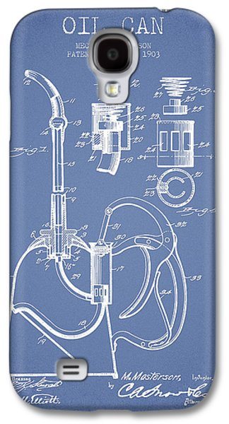 Oil Can Patent From 1903 - Light Blue Galaxy S4 Case by Aged Pixel