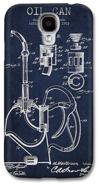 Oil Can Patent From 1903 - Navy Blue Galaxy S4 Case by Aged Pixel