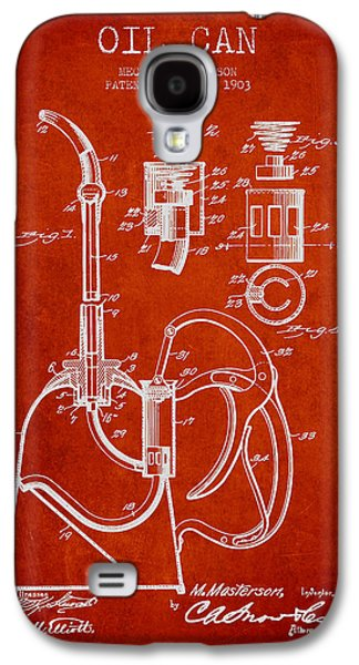 Oil Can Patent From 1903 - Red Galaxy S4 Case by Aged Pixel