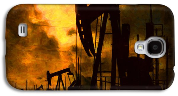 Wing Chee Tong Galaxy S4 Cases - Oil Pumps Galaxy S4 Case by Wingsdomain Art and Photography