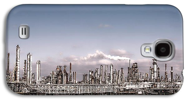 Chimneys Galaxy S4 Cases - Oil Refinery Galaxy S4 Case by Olivier Le Queinec