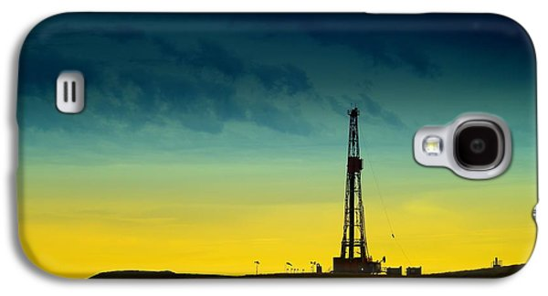 Rigs Galaxy S4 Cases - Oil Rig In The Spring Galaxy S4 Case by Jeff  Swan
