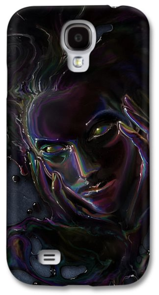 Recently Sold -  - Digital Galaxy S4 Cases - Oil Spill Galaxy S4 Case by Cassiopeia Art