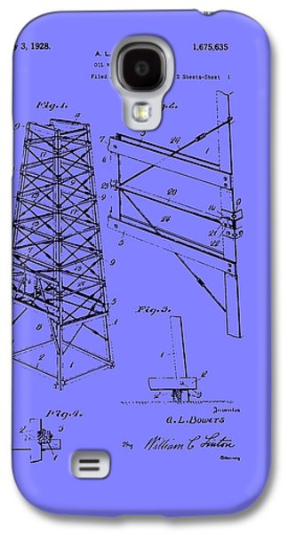 Industrial Drawings Galaxy S4 Cases - Oil Well Derrick Patent Galaxy S4 Case by Mountain Dreams
