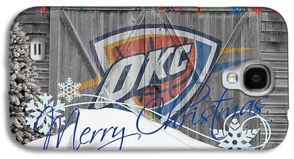 Dunk Galaxy S4 Cases - Oklahoma City Thunder Galaxy S4 Case by Joe Hamilton