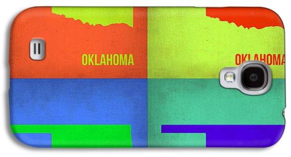 Oklahoma Pop Art Map 1 Galaxy S4 Case by Naxart Studio