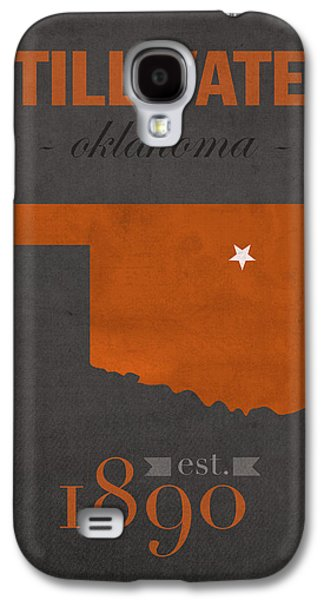 Oklahoma State University Cowboys Stillwater College Town State Map Poster Series No 084 Galaxy S4 Case by Design Turnpike