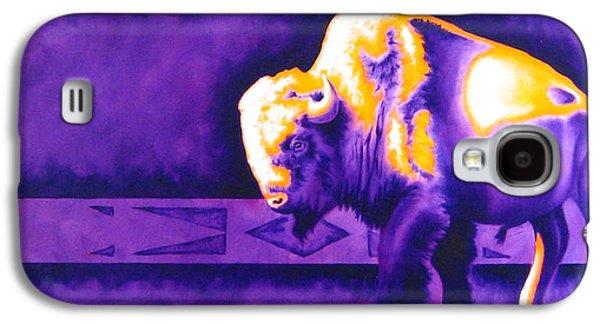 Purple Robe Galaxy S4 Cases - Ol Bull Galaxy S4 Case by Robert Martinez