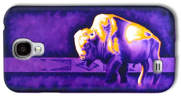 Bison Mixed Media Galaxy S4 Cases - Ol Bull Galaxy S4 Case by Robert Martinez