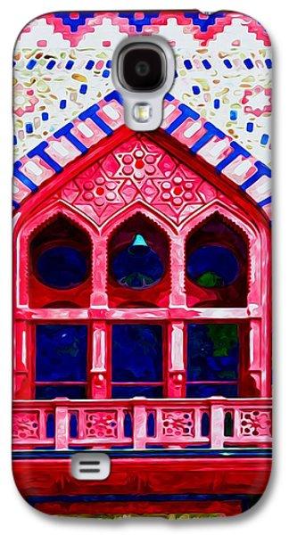 Church Pillars Paintings Galaxy S4 Cases - Olana 10 Galaxy S4 Case by Lanjee Chee