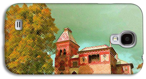 Church Pillars Paintings Galaxy S4 Cases - Olana 14 Galaxy S4 Case by Lanjee Chee