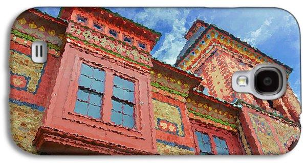 Church Pillars Paintings Galaxy S4 Cases - Olana 15 Galaxy S4 Case by Lanjee Chee