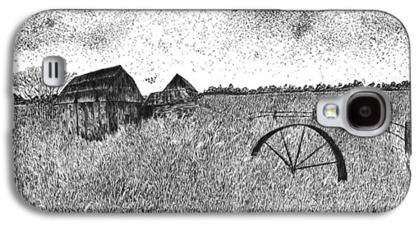 Old Barn Drawing Drawings Galaxy S4 Cases - Old and Forgotten Galaxy S4 Case by Rahul Jain