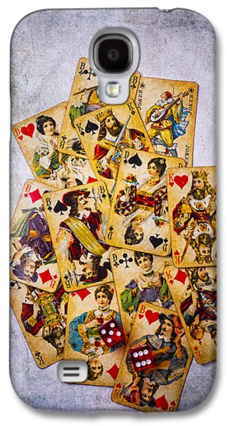 Recently Sold -  - Concept Photographs Galaxy S4 Cases - Old Antique Playing Cards Galaxy S4 Case by Garry Gay