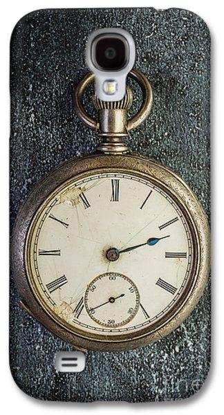 Clock Galaxy S4 Cases - Old Antique Pocket Watch Galaxy S4 Case by Edward Fielding