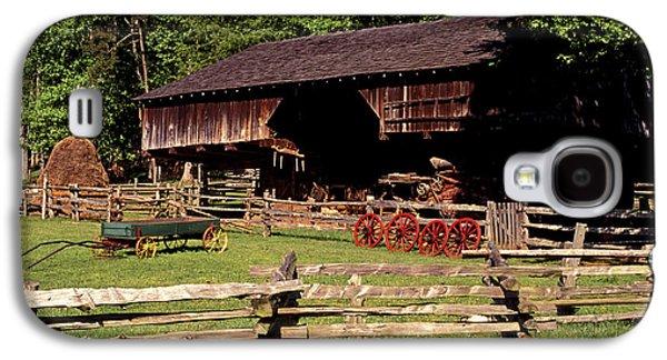 Tn Barn Galaxy S4 Cases - Old Appalachian Farm Cantilevered Barn Galaxy S4 Case by Paul W Faust -  Impressions of Light