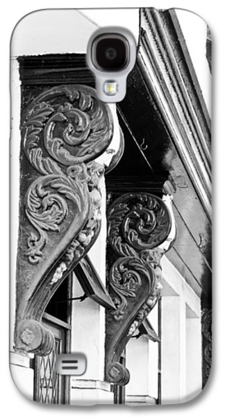 Wooden Sculpture Galaxy S4 Cases - Old architecture Galaxy S4 Case by Tom Gowanlock