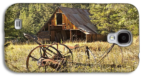 Machinery Galaxy S4 Cases - Old Barn and Plow Galaxy S4 Case by Abram House