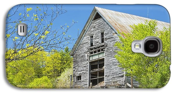 Old Maine Barns Galaxy S4 Cases - Old Barn In Spring Maine Galaxy S4 Case by Keith Webber Jr