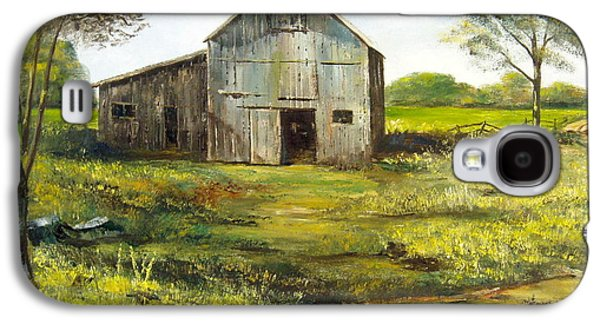 Old Maine Barns Galaxy S4 Cases - Old Barn Galaxy S4 Case by Lee Piper