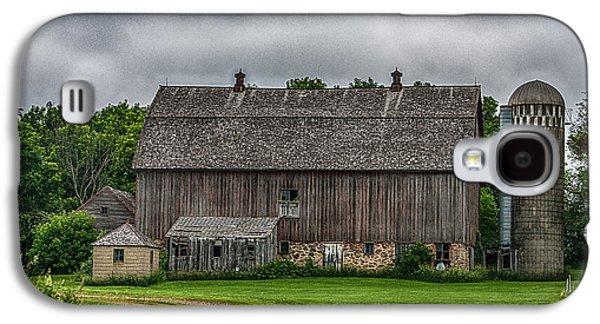 Barn Yard Galaxy S4 Cases - Old Barn On A Stormy Day Galaxy S4 Case by Paul Freidlund