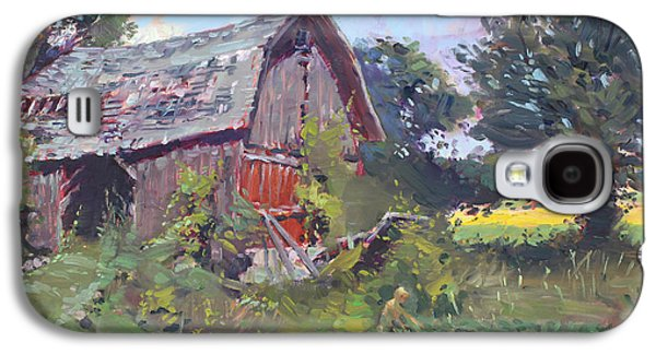 Old Barns Paintings Galaxy S4 Cases - Old Barns  Galaxy S4 Case by Ylli Haruni