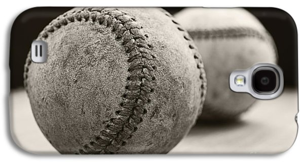 Sports Photographs Galaxy S4 Cases - Old Baseballs Galaxy S4 Case by Edward Fielding