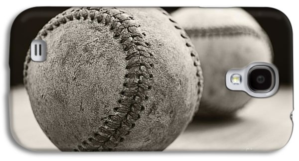 Baseball Photographs Galaxy S4 Cases - Old Baseballs Galaxy S4 Case by Edward Fielding