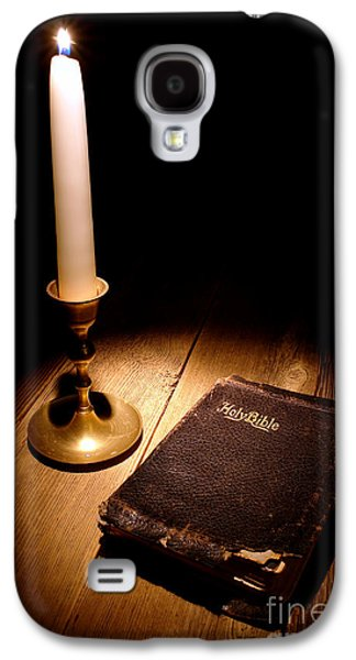 Torn Galaxy S4 Cases - Old Bible and Candle Galaxy S4 Case by Olivier Le Queinec