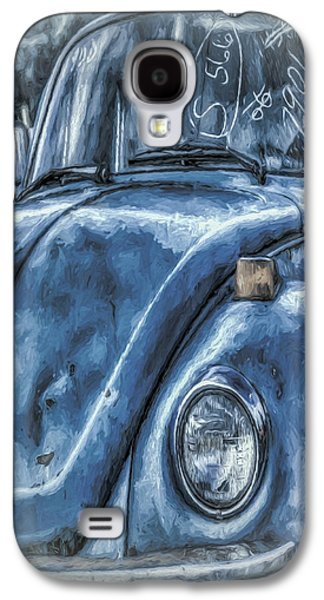 Mobile Designs Galaxy S4 Cases - Old Blue Bug Galaxy S4 Case by Jean OKeeffe Macro Abundance Art