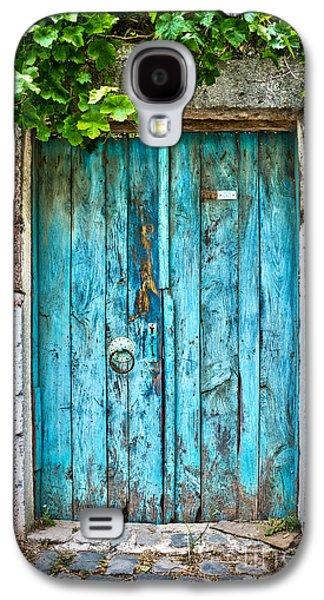 Old Door Galaxy S4 Cases - Old blue door Galaxy S4 Case by Delphimages Photo Creations