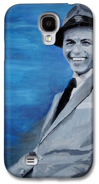 Frank Sinatra Paintings Galaxy S4 Cases - Old Blue Eyes - Frank Sinatra Galaxy S4 Case by Michael Kypuros