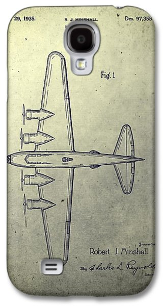 Transportation Mixed Media Galaxy S4 Cases - Old Bombing Aircraft Patent Galaxy S4 Case by Dan Sproul