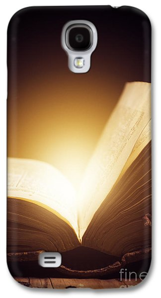 Bible Pyrography Galaxy S4 Cases - Old Book Galaxy S4 Case by Jelena Jovanovic