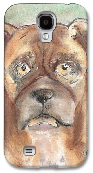 Boxer Pastels Galaxy S4 Cases - Old Boxer Galaxy S4 Case by Christine Callahan