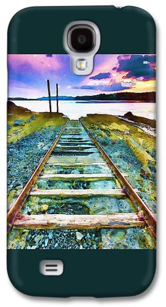 Old Broken Railway Track Watercolor Galaxy S4 Case by Marian Voicu