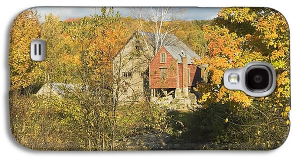 Old Maine Barns Galaxy S4 Cases - OLd Buildings and Fall Colors in Vienna Maine Galaxy S4 Case by Keith Webber Jr