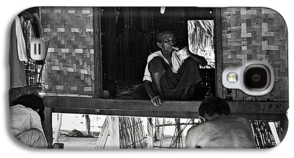 Bamboo House Galaxy S4 Cases - Old burmese smoker woman Galaxy S4 Case by RicardMN Photography