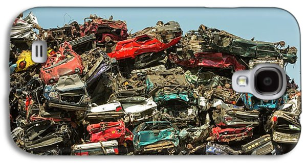Old Cars At A Scrap Metal Merchants Galaxy S4 Case by Ashley Cooper