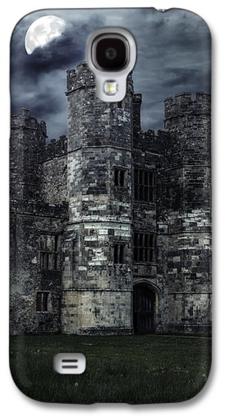 Creepy Galaxy S4 Cases - Old Castle At Night Galaxy S4 Case by Joana Kruse