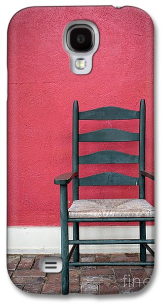 Ladder Back Chairs Galaxy S4 Cases - Restful spot Cornish New Hampshire Galaxy S4 Case by Edward Fielding