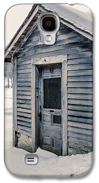 Rural Snow Scenes Galaxy S4 Cases - Old Chicken Coop Etna New Hampshine in the winter Galaxy S4 Case by Edward Fielding