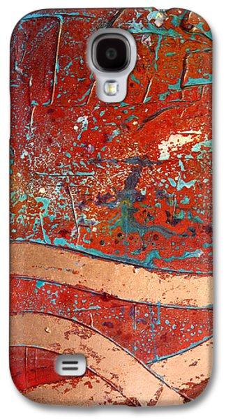 Splashy Mixed Media Galaxy S4 Cases - Old Copper Roads Galaxy S4 Case by Adam Oriti