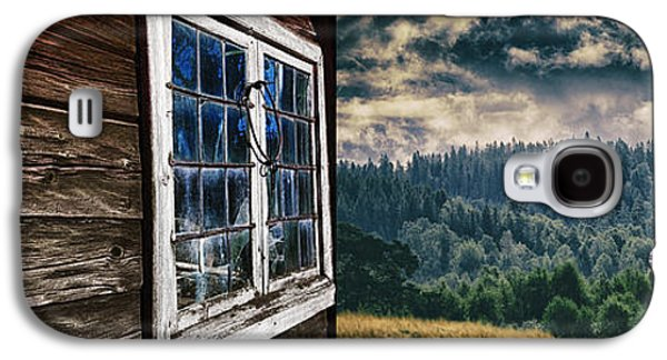 Surreal Landscape Galaxy S4 Cases - Old Cottage And Landscape In A Suureal Concept Galaxy S4 Case by Christian Lagereek