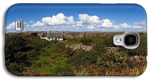 Farmscape Galaxy S4 Cases - Old Cottage On Gorumna Island Galaxy S4 Case by Panoramic Images